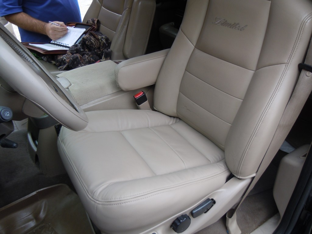 Car Seat Check >> 2003 Ford Excursion Replacement Leather Seat Cover ...