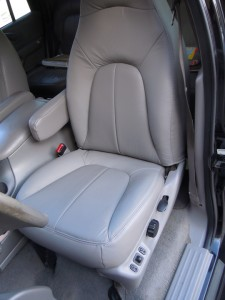 1997-2002 Expedition XLT Driver Bottom /& Top Leather Seat Cover Gray